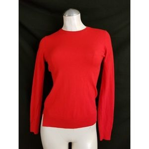 Theory Size S Knit Top Red Orange